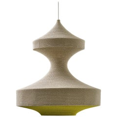 Monika Ø100 Pendant Light, Hand Crocheted in 100% Mercerized Egyptian Cotton