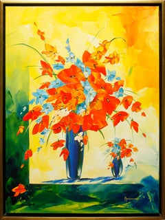 """Ambiance de Fleurs"" by Monika Meunier 39"" x 29"" Oil on Canvas"