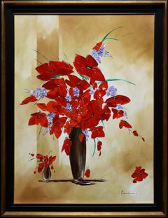 """Poppies of Provence"" by Monika Meunier 39"" x 29"" Oil on Canvas"