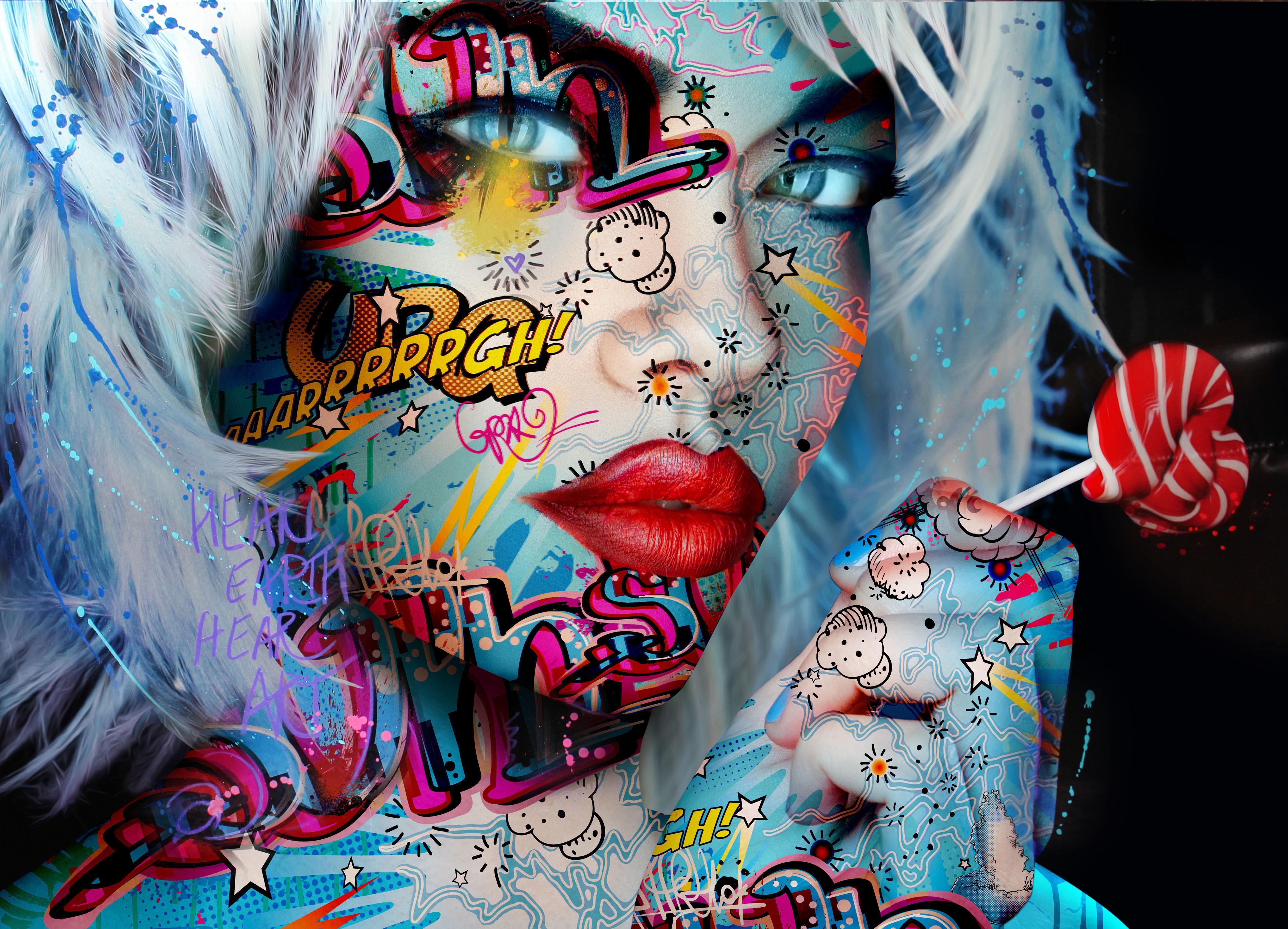 """Candy Yum Yum"" - Pop art, pop culture, feminism, woman power, woman empowerment"