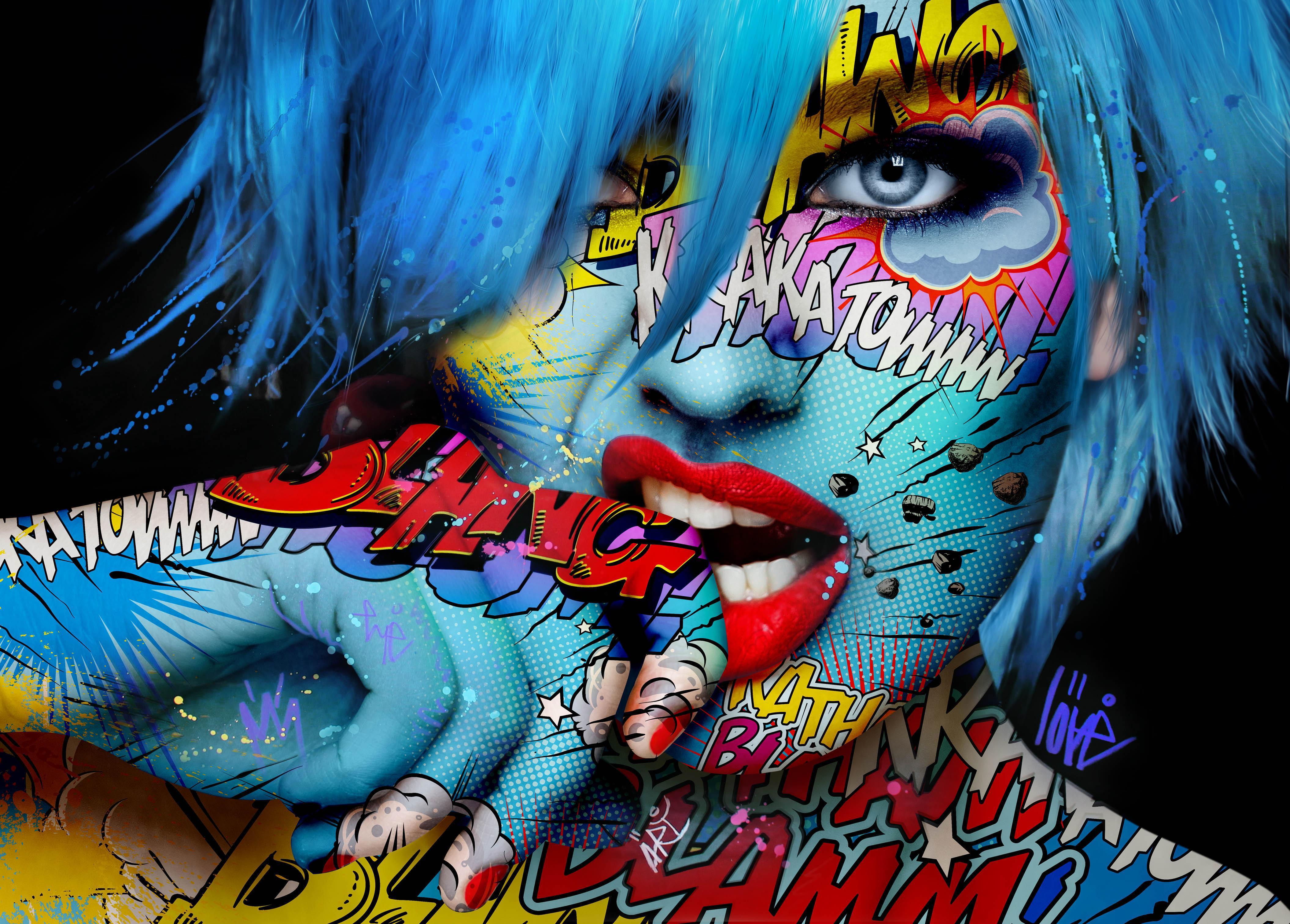 """Viva Glam"" -- Pop art, pop culture, feminism, woman power, woman empowerment"
