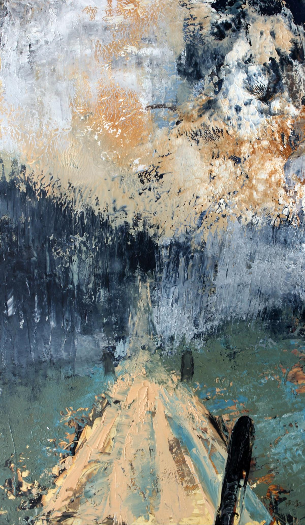 Landscape - XXI century, Contemporary Oil & Acrylic Painting, Abstraction