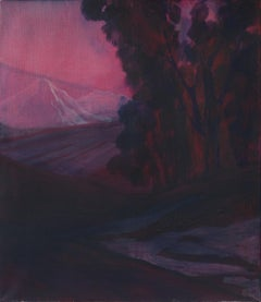 Untitled ( Atmospheric Landscape ) - Contemporary Painting, White Mountain View
