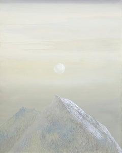 Untitled - Contemporary Figurative Painting, Mountains Landscape, Lightness