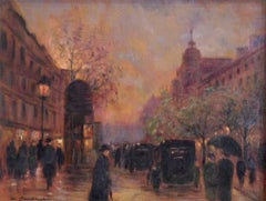 Boulevard Haussmann; Monique Baudaux; Late 20th; oil on canvas;