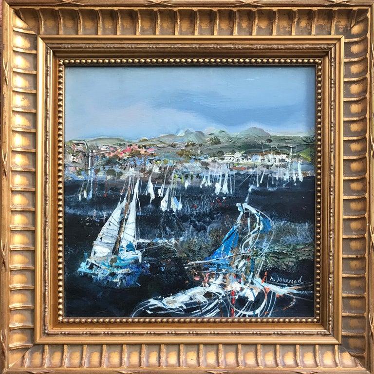 St. Tropez les Voiles - Painting by Monique Journod