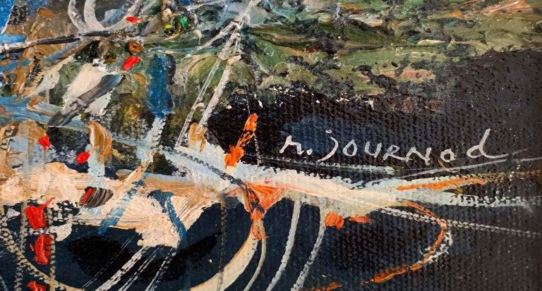 St. Tropez les Voiles - Impressionist Painting by Monique Journod