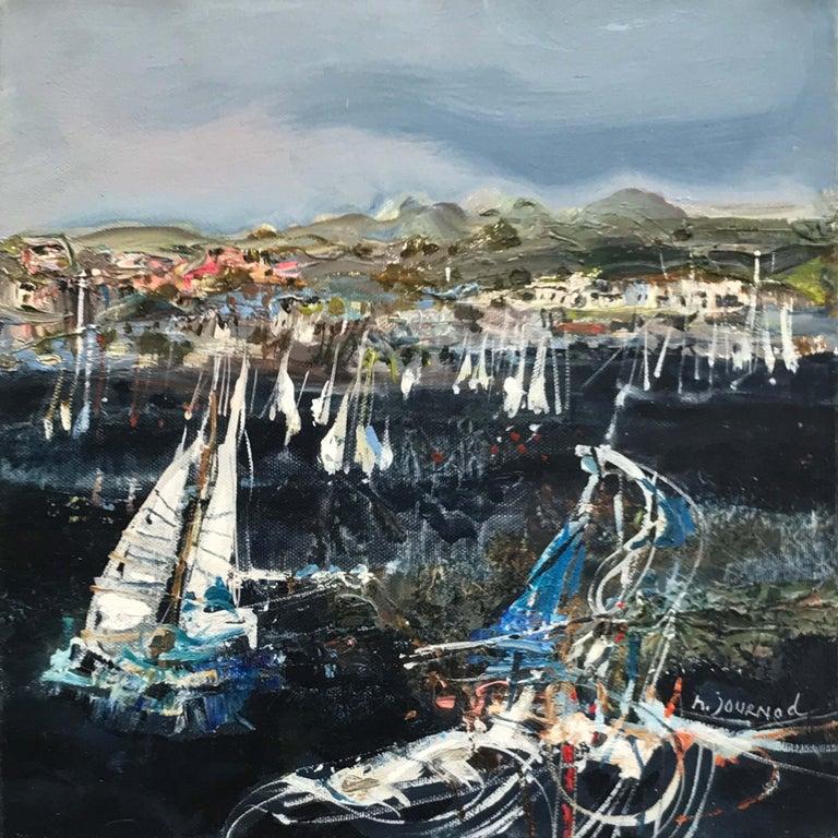 Monique Journod Landscape Painting - St. Tropez les Voiles