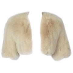Monique Lhuillier Fox Fur Cropped Bolero Jacket