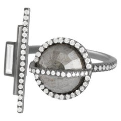 Monique Péan 2.28 Carat Grey and White Diamond Open Arch Ring, 18 Carat Gold