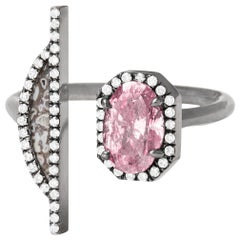 Monique Péan Fancy Vivid Purple-Pink Diamond and Fossilized Dinosaur Bone Ring