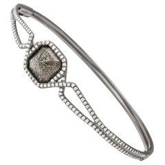 Monique Péan Pyritized Dinosaur Bone and White Diamond Bracelet