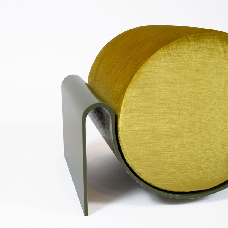 Minimalist Monitor Fiberglass Stool Green by Asa Pingree For Sale