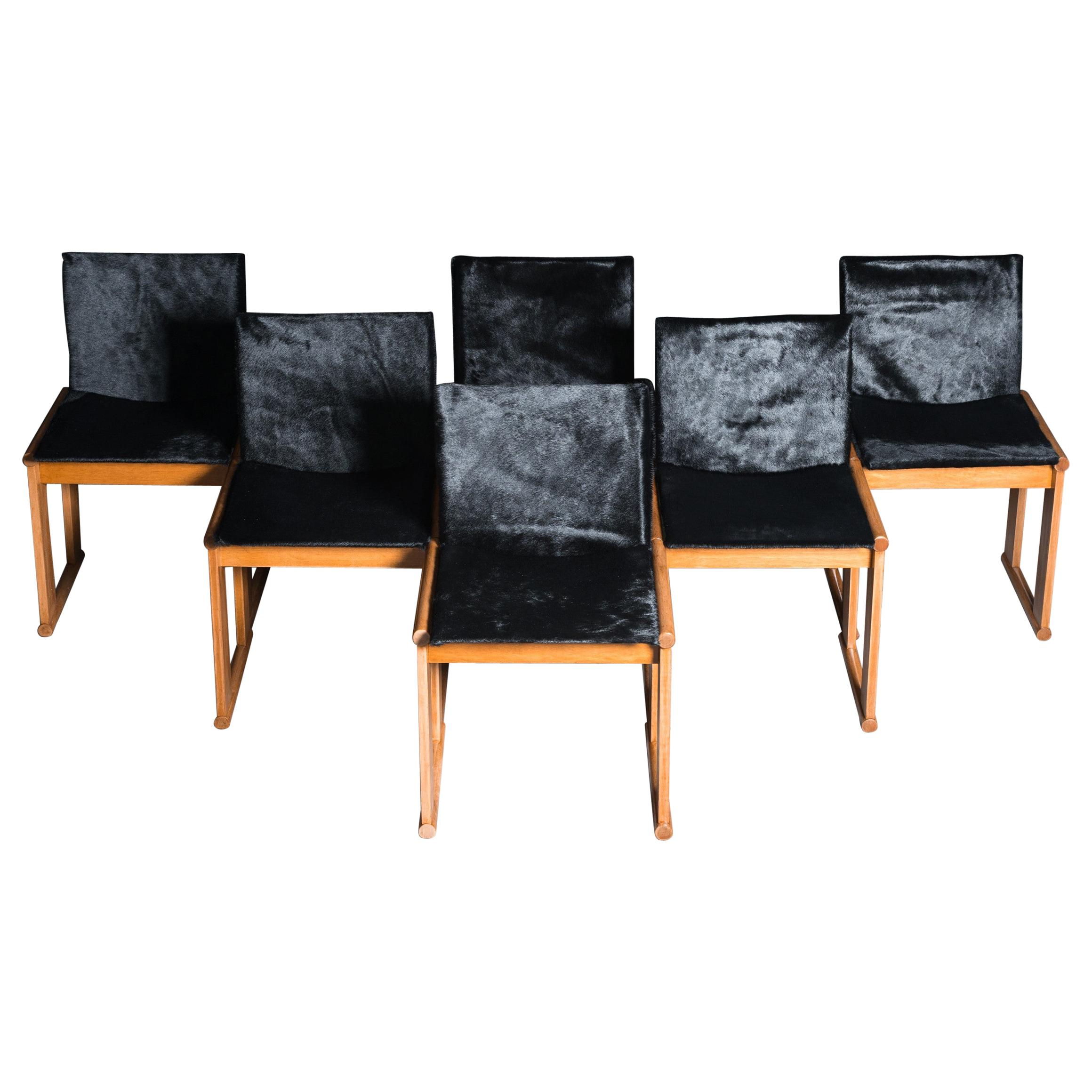Monk Chairs by Afra & Tobia Scarpa in Poney