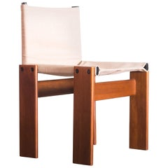 Monk Chairs by Afra & Tobia Scarpa, Raw Cloth