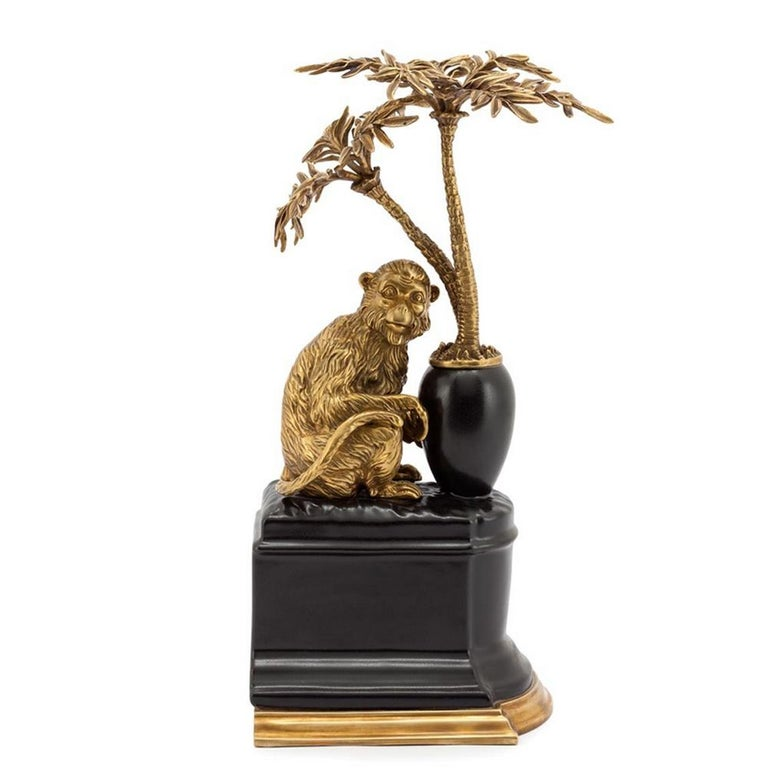 Italian Monkeys and Palms Set of 2 Bookends For Sale