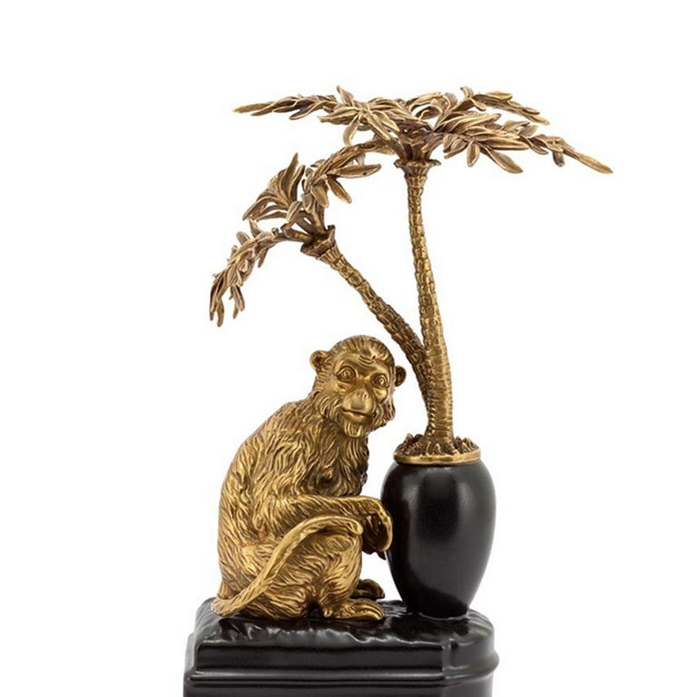 Monkeys and Palms Set of 2 Bookends In New Condition For Sale In Paris, FR