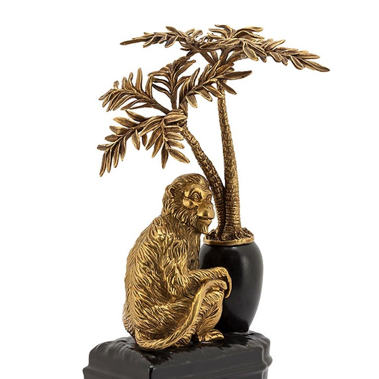Monkeys and Palms Set of 2 Bookends For Sale 2