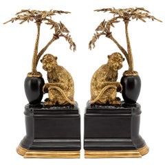 Monkeys and Palms Set of 2 Bookends