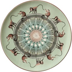 Monkeys Porcelain Dinner Plate by Vito Nesta for Les-Ottomans