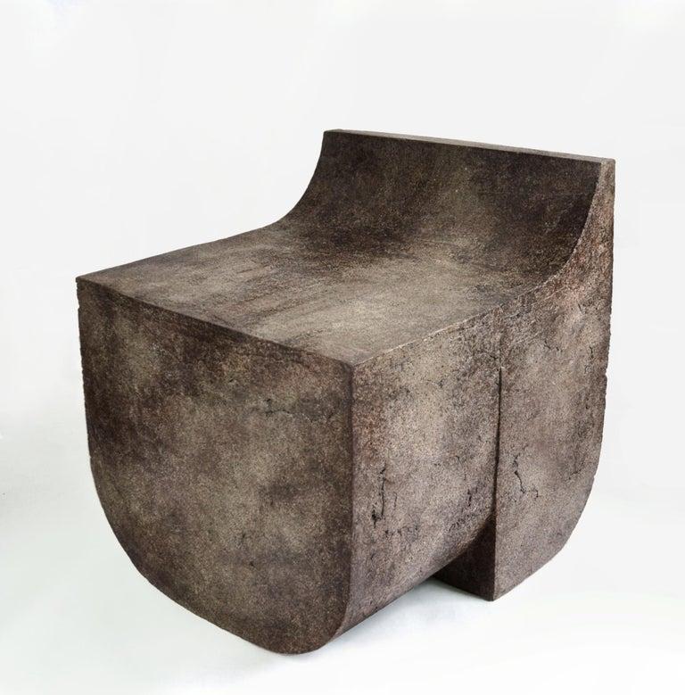 Cement Mono Block Chair, Isac Elam Kaid For Sale