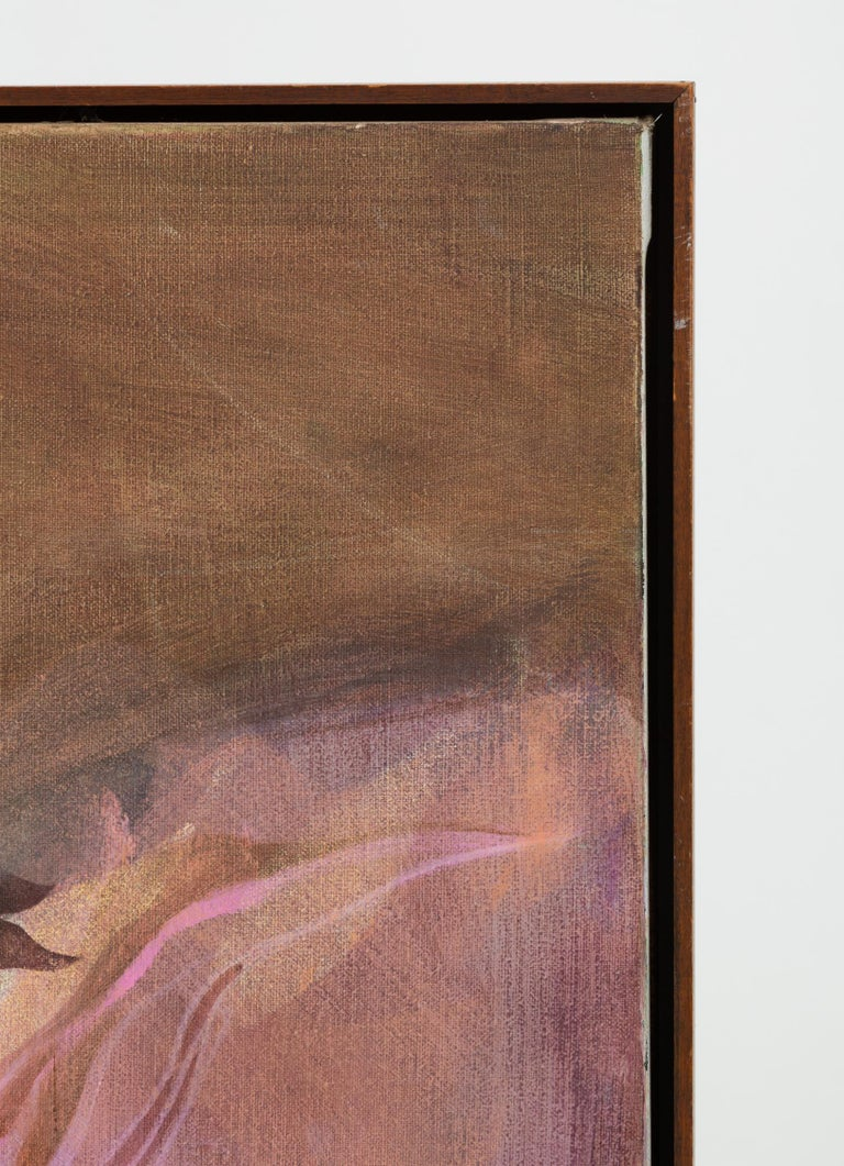 Mid-Century Modern Monochromatic Abstract Floral Painting For Sale