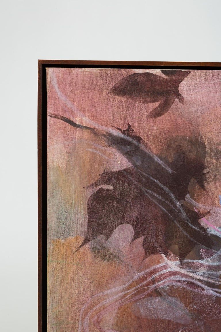 Monochromatic Abstract Floral Painting In Excellent Condition For Sale In Los Angeles, CA