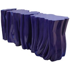Monochrome Console in Purple in Molded Fiberglass