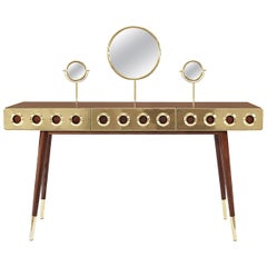 Monocles Dressing Table and Vanity with Brass Detail by Essential Home
