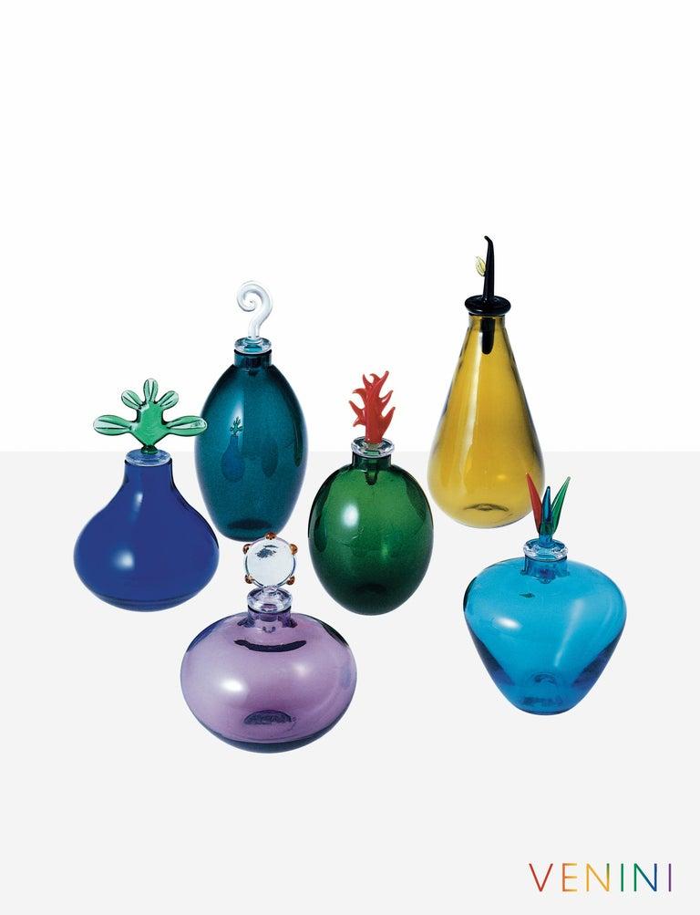 Modern Monofiore Sapphire Yellow Glass Vase by Laura de Santillana For Sale