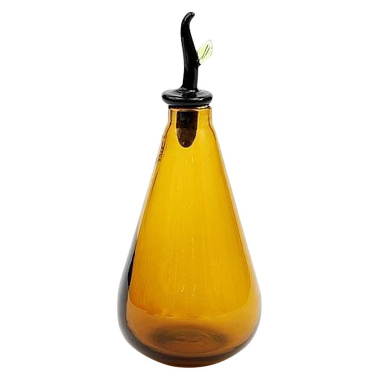 Monofiore Sapphire Yellow Glass Vase by Laura de Santillana For Sale