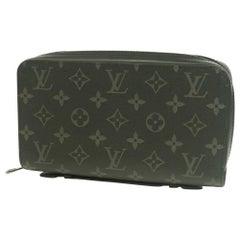 Monogram  eclipse  ZippyXL  Mens  long wallet M61698 Leather