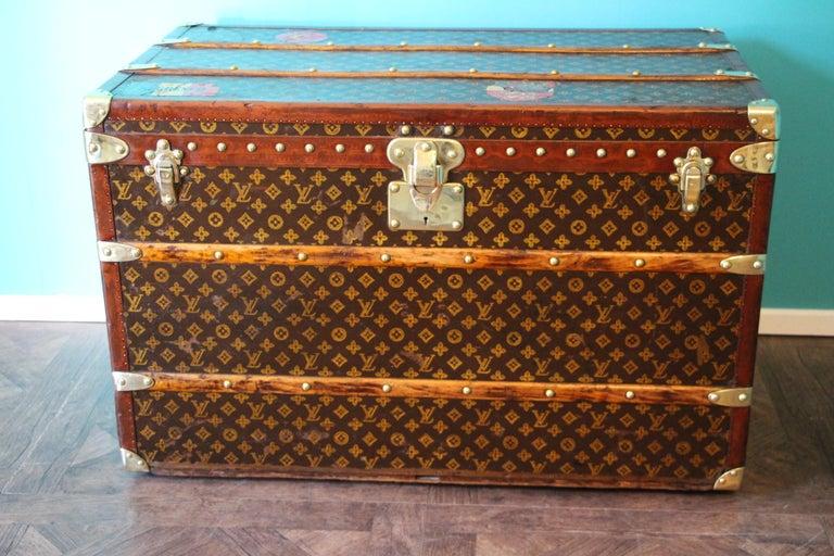 Women's or Men's Monogram Louis Vuitton Trunk, Louis Vuitton Steamer Trunk,Louis Vuitton Courrier For Sale