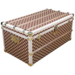 "Monogram Steamer Trunk by ""Aux Etats-Unis"""