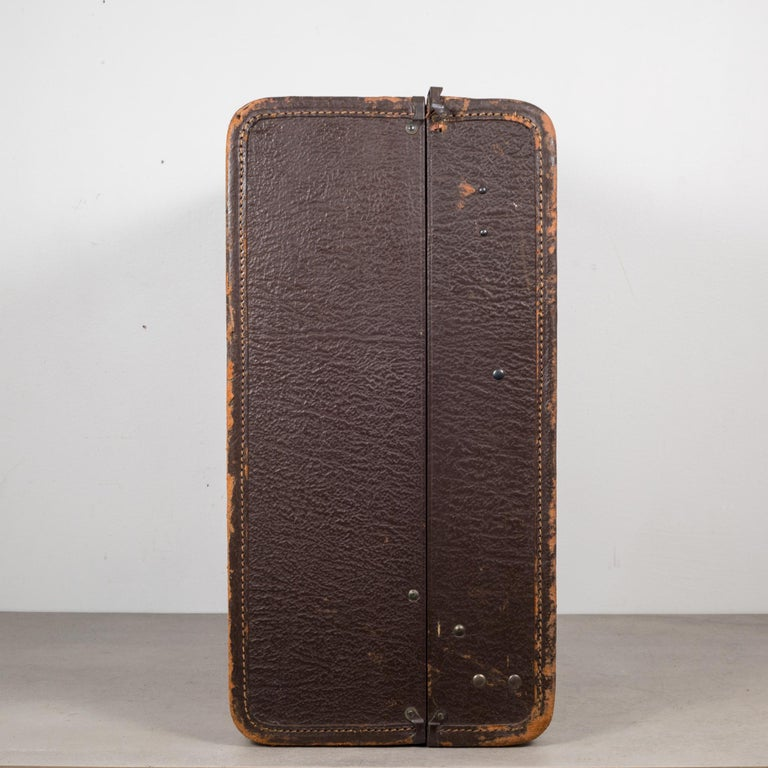 20th Century Monogrammed Leather Luggage, circa 1940 For Sale