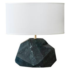 """Monolite"" Flair Edition Mat Green Guatemala Marble Lamp, Italy, 2019"