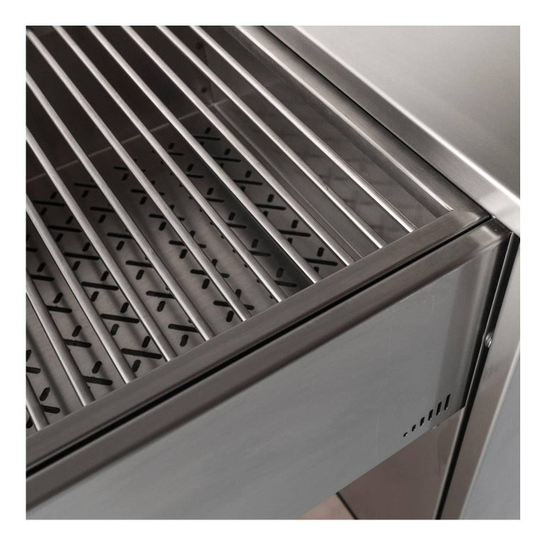 Brushed Functional Outdoor Stainless Steel Charcoal Barbecue with Sliding Grills, Snail For Sale