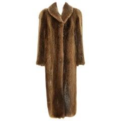 Monroe Furs Natural Pale Long Hair Beaver Coat