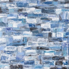 Call of the Sea - Monroe Hodder, American, Abstract, Juxtapositions, Bold, Blue
