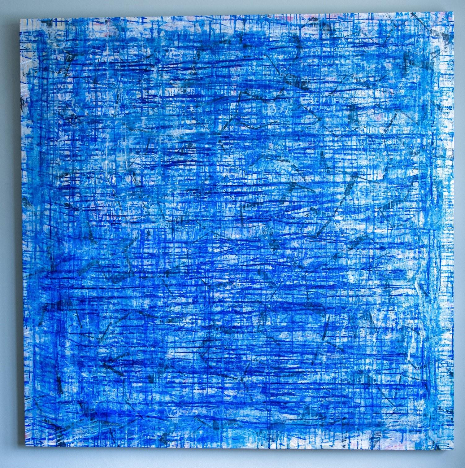 Deep Sea - Monroe Hodder, American, Abstract, Juxtapositions, Bold, Modern, Blue