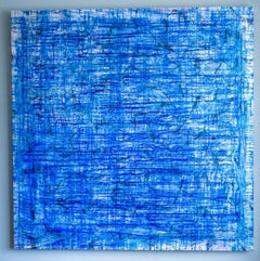 Deep Sea - Monroe Hodder, American, Abstract, Juxtapositions, Bold, Modern, Blue