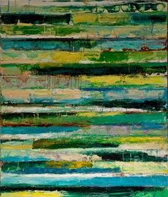Green Revolution-Monroe Hodder, American, Abstract, Juxtapositions, Bold, Modern