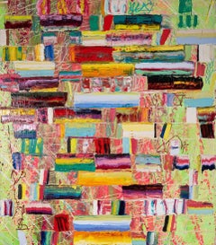 March of the Zapotec - Monroe Hodder, American, Abstract, Juxtapositions, Bold