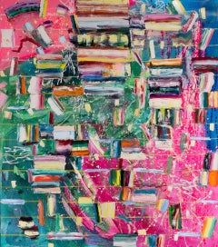 Stairway to June-Monroe Hodder, American, Abstract, Juxtapositions, Bold, Modern