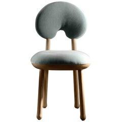 Monseiur Oops Chair in Lichen Green Fabric by Pierre Yovanovitch, 2018