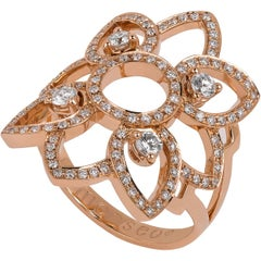 Monseo Diamond Rose Gold Cocktail Ring