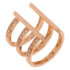 Monseo Diamond Rose Gold Ring