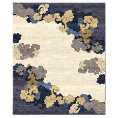Monsoon Season Hand-Knotted Wool and Silk 2.7 x 3.6m Rug