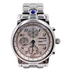 Montblanc 7067 Meisterstruck Star GMT Extra Large Chronograph Stainless Box