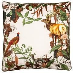 Mont Blanc, Contemporary Velvet Printed Pillow by Vito Nesta